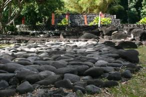 Te marae, a sacred temple of the Maori