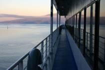 View of Tahiti from the Aremiti Ferry