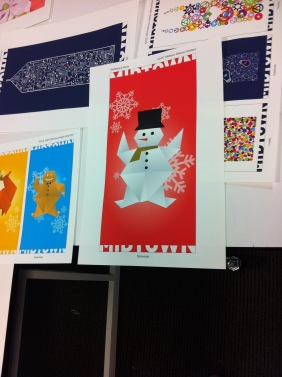 Close-up of the Snowman banner.