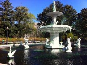 Green fountains everywhere!