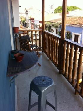 Balcony facing Calle de Media Luna