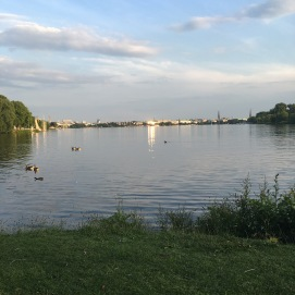 View from the Winterhude end of the Alster