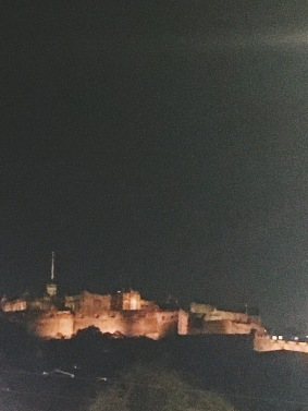 Edinburgh Castle on Halloween