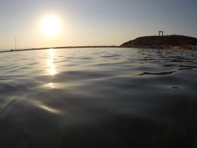 Sunset swim on Naxos